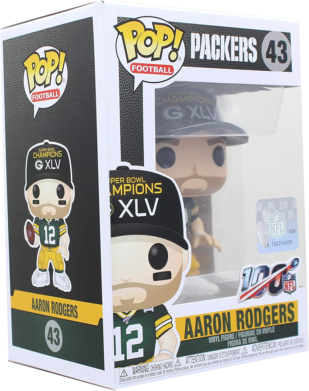Funko - Pop! NFL: Packers - Aaron Rodgers (SB Champions XLV ...