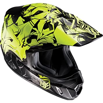 Casco Mx Hjc Cs-Mx Ii Graffed Fluorescent (M , Amarillo)