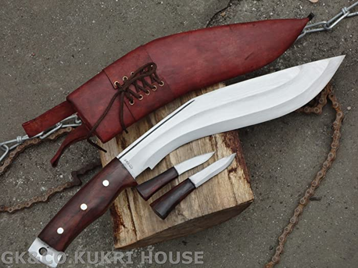Genuine Gurkha Kukri - Authentic British Gurkha AEOF Afghan Issue with Brown Sheath Kukri - Handmade by GK&CO. Kukri House in Nepal