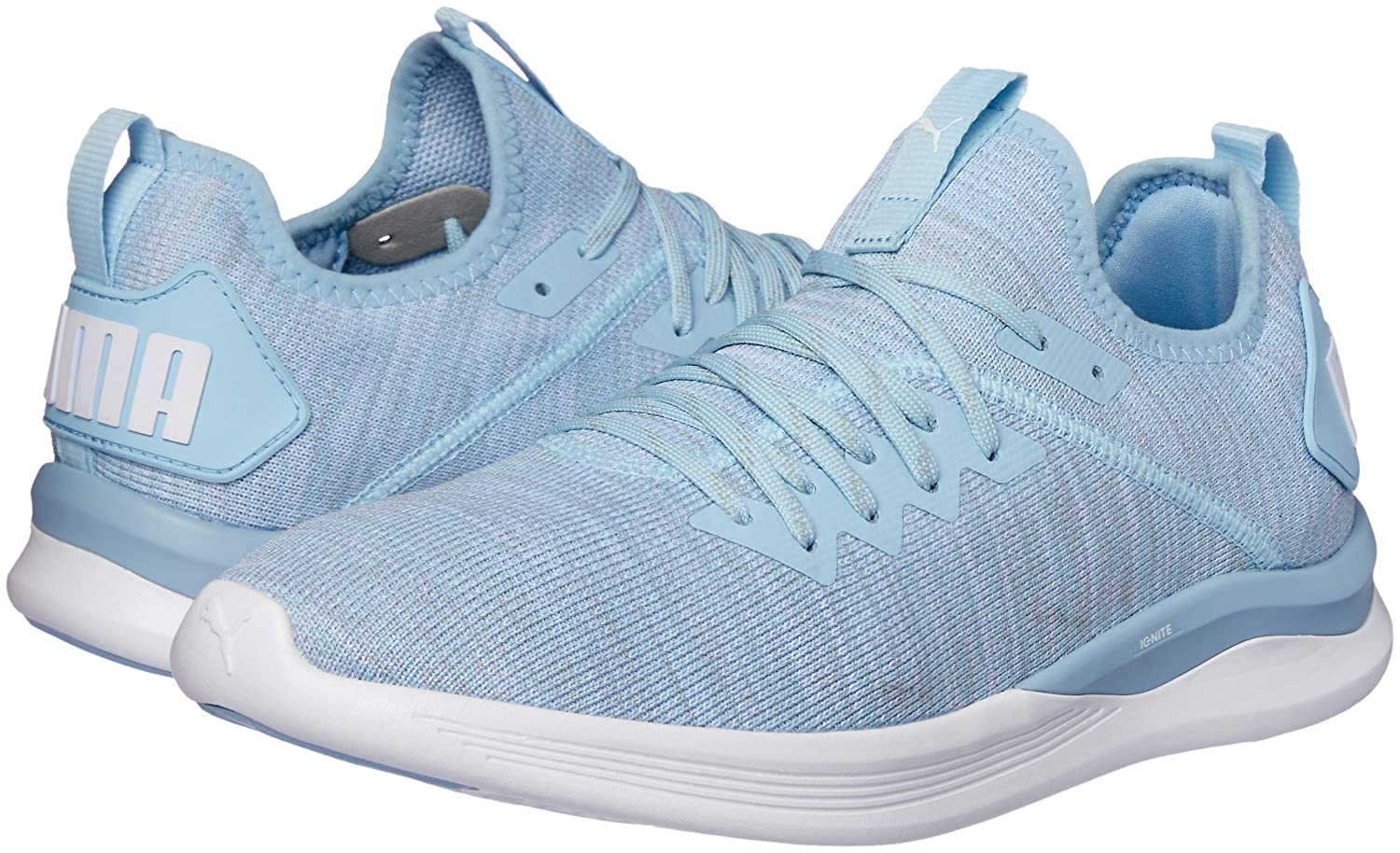 Puma Damen (Cerulean-quarry-puma Ignite Flash Evoknit WN's Laufschuhe Blau (Cerulean-quarry-puma Damen Weiß 09) 1ef865