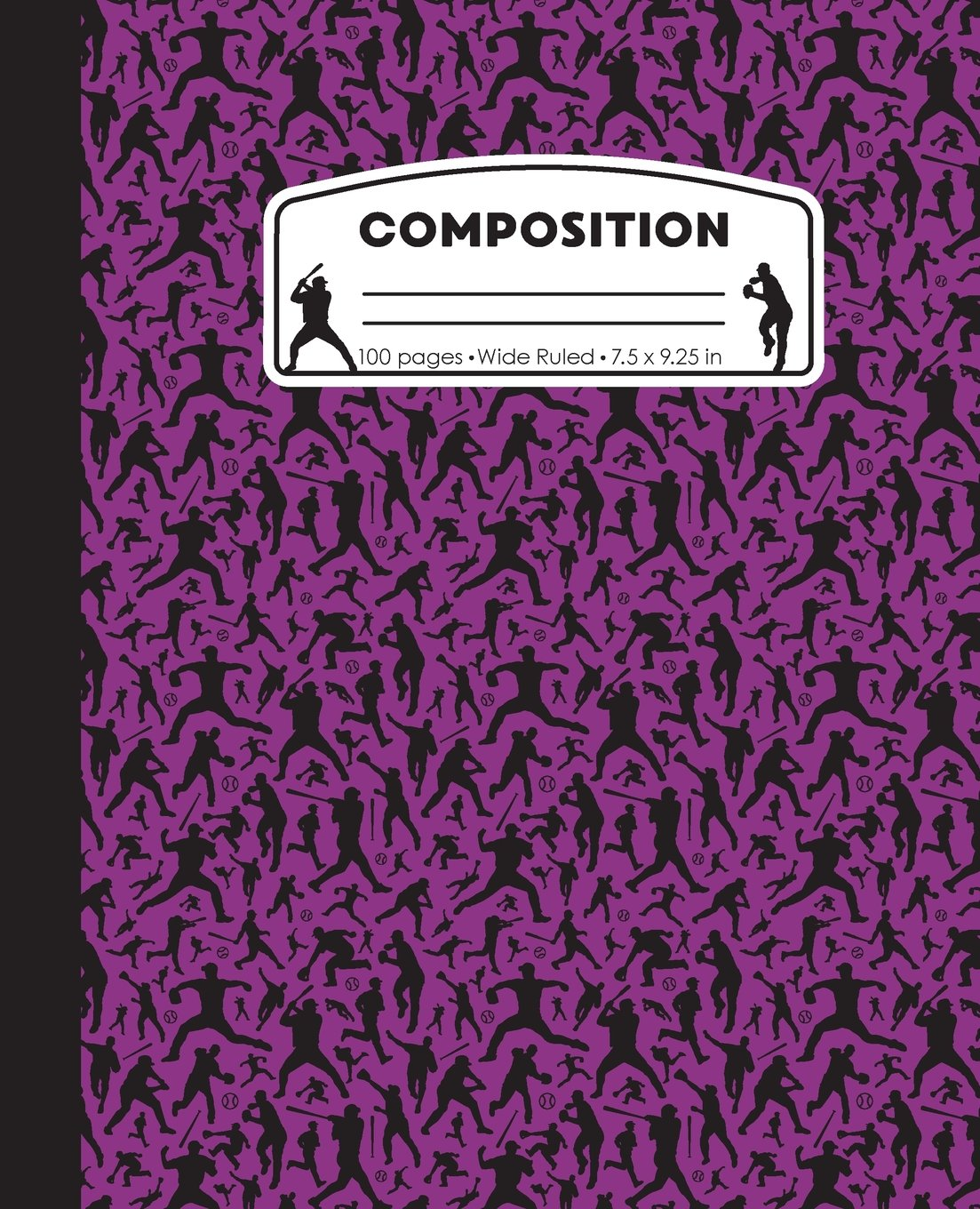 Read Online Composition: Baseball Purple Marble Composition Notebook. Ball Player Wide Ruled Book 7.5 x 9.25 in, 100 pages, journal for girls boys, kids, ... teachers (Baseball Marble Composition Books) PDF