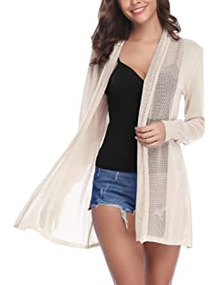 303c26b15b7e2 Shawhuaa Womens Knitted Slim Fit Open Front Cardigan Sweater Shawl ...
