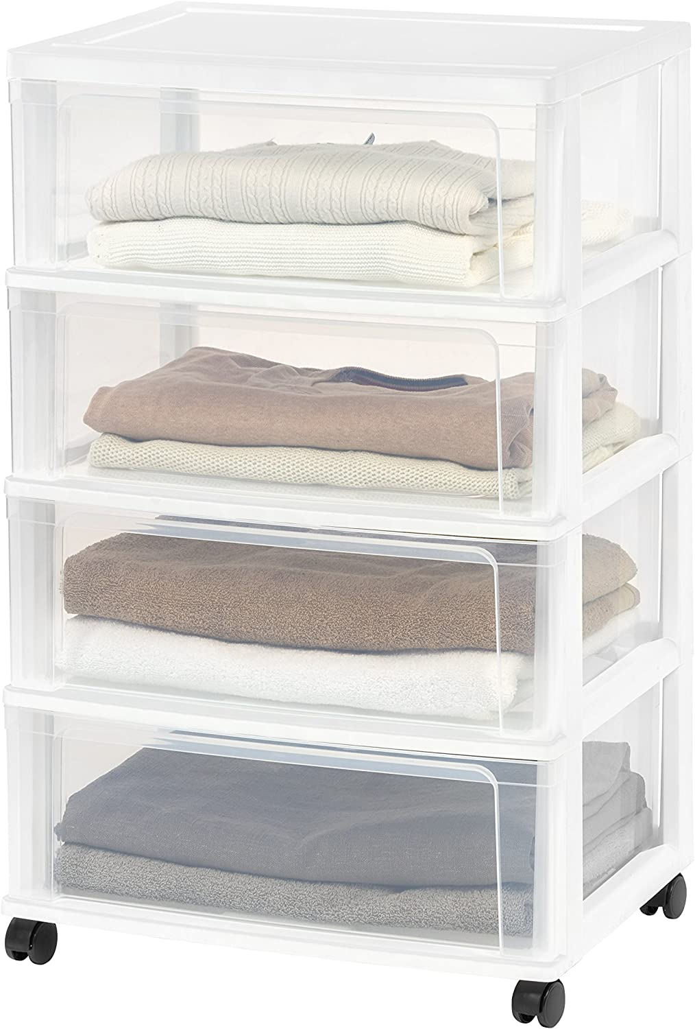 IRIS 4 Drawer Wide Chest, White