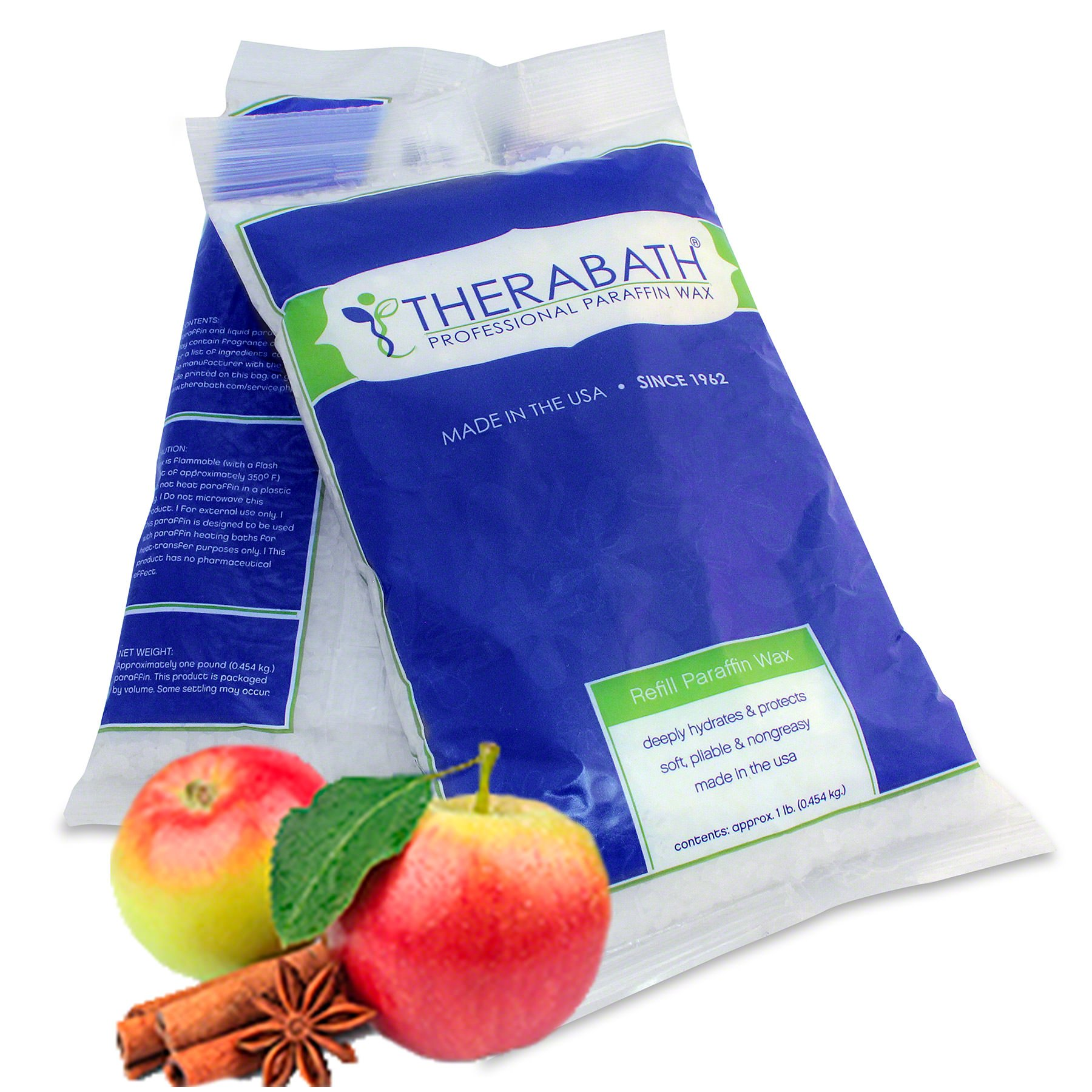 Therabath Paraffin Wax Refill - Use To Relieve Arthritis Pain and Stiff Muscles - Deeply Hydrates and Protects - 6 lbs Warm Apple Spice by Therabath