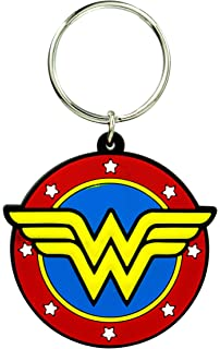 DC Comics Wonder Woman Logo with Lasso Pewter Key Ring Accessory
