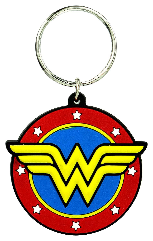 DC Wonder Woman Classic Logo Soft Touch PVC Key Ring