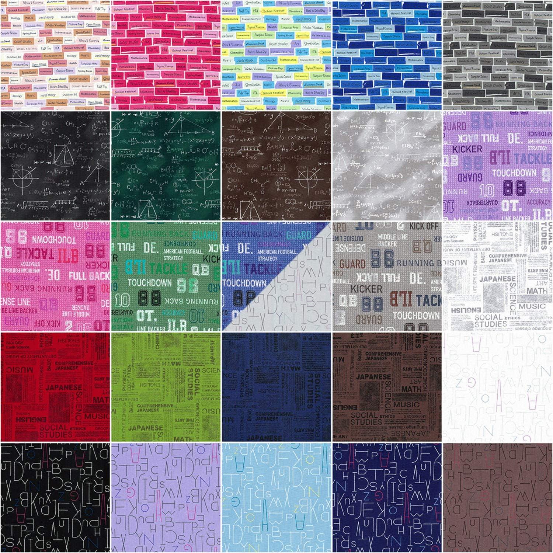 Moji Palette Charm Pack 42 5-inch Squares Lecien