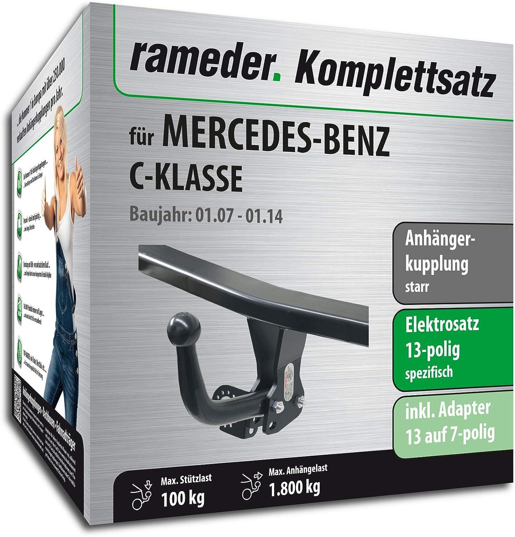 Anh/ängerkupplung starr 13pol Elektrik f/ür Mercedes-Benz C-KLASSE Rameder Komplettsatz 113668-06224-5
