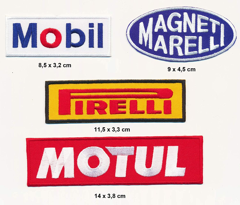 Racing Classics Mobil Magneti Marelli Motul Pirelli Patches Aufn/äher 4 St/ück TURBOVERSAND