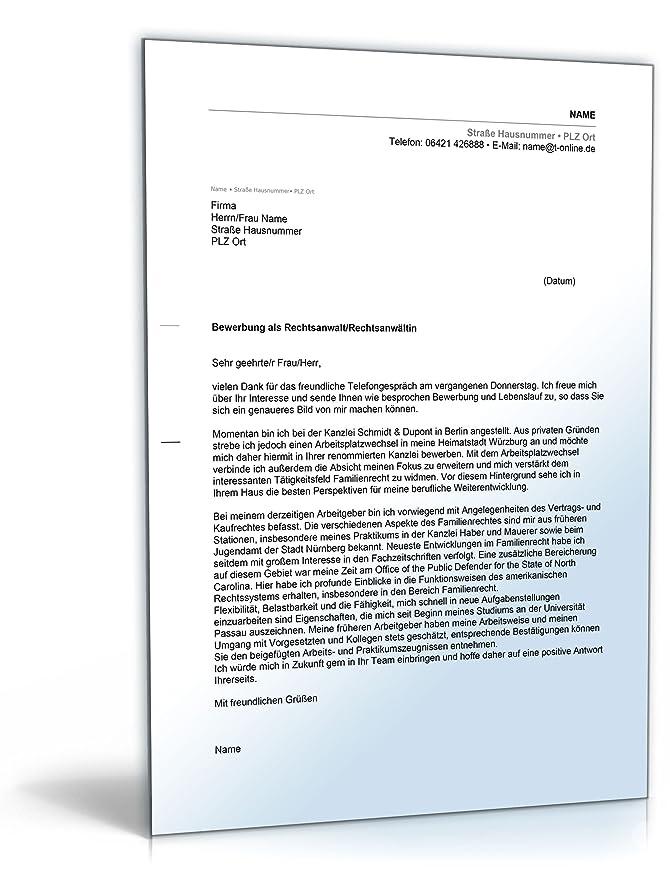 anschreiben bewerbung rechtsanwalt word dokument amazonde software - Anschreiben Rechtsanwalt