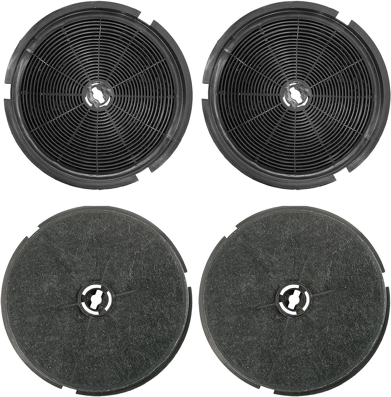 Spares2go Carbón Carbón Ventilación Filtro para B & Q Cata Designair Cooke & Lewis Campanas Extractoras (Pack de 4): Amazon.es: Hogar
