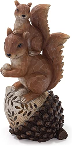 VP Home Mom and Baby Squirrel Solar Powered LED Outdoor Decor Garden Light