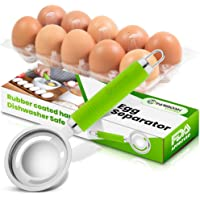 Yarmoshi Stainless Steel Egg Separator, Filters Yolk from White with Ease - Kitchen Gadget for Cooking and Baking with…