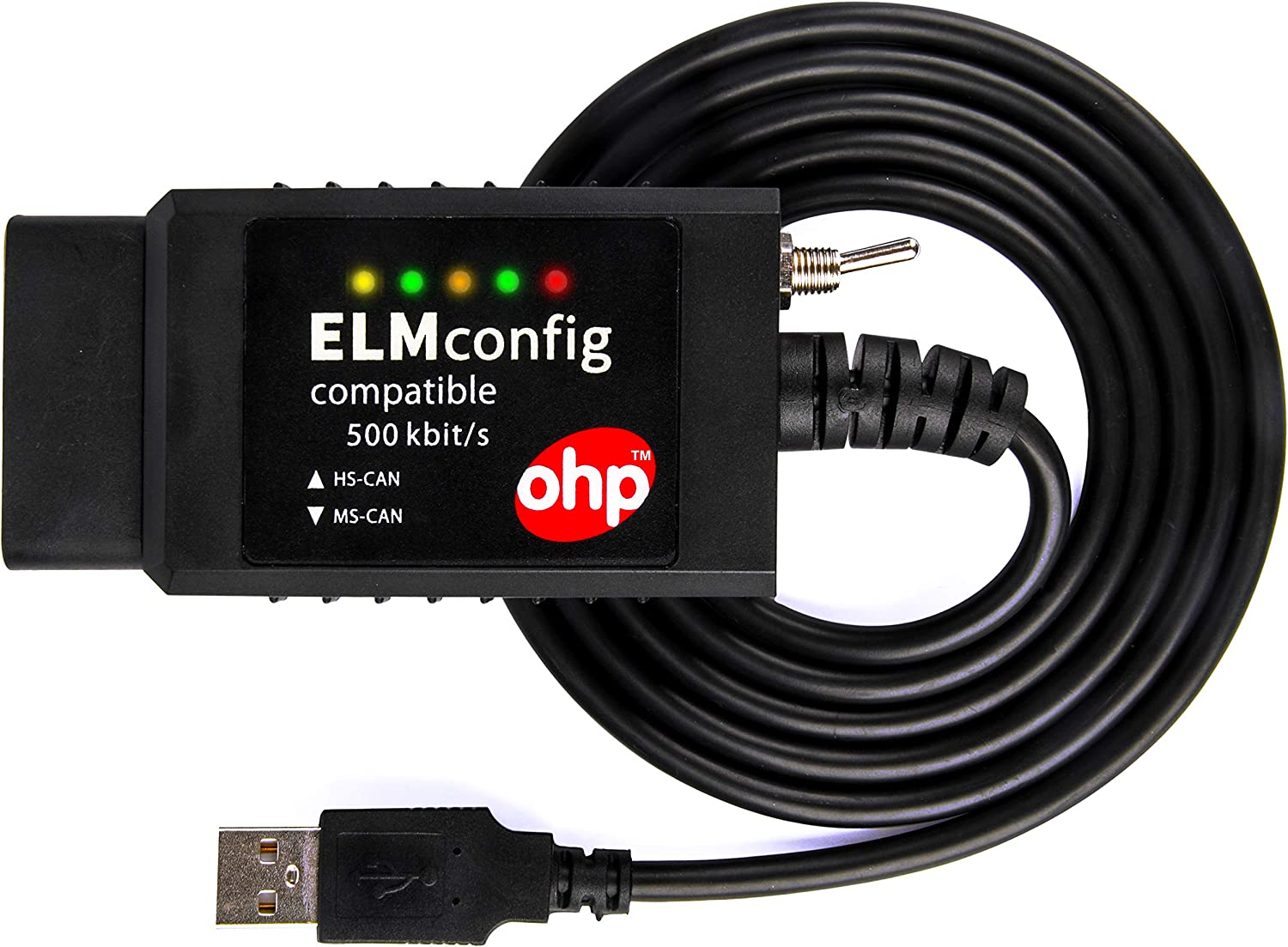 ELMconfig USB device 500kbit/s ELM327 compatible interface with MS-CAN switch for Forscan FoCCCus OBD2 diagnostics …