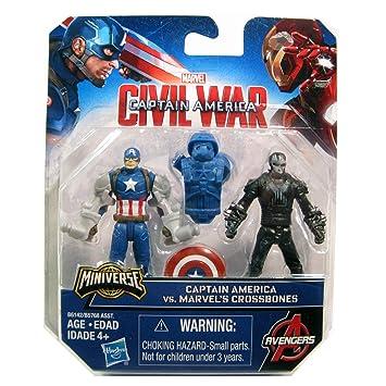 Marvel Civil War Captain America Vs Crossbones Miniverse Figure Toy