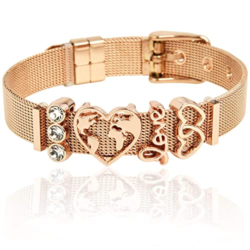 Armband Herz Armreif Armkette Damenarmband Strass Stein Metall Paris