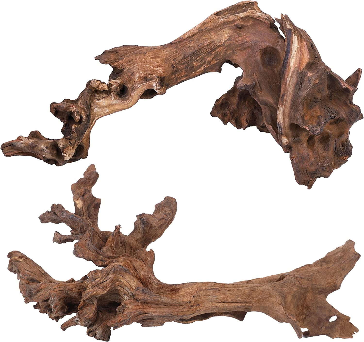majoywoo Natural Large Driftwood for Aquarium Decor Reptile Decor, Assorted Driftwood Branch 9-14
