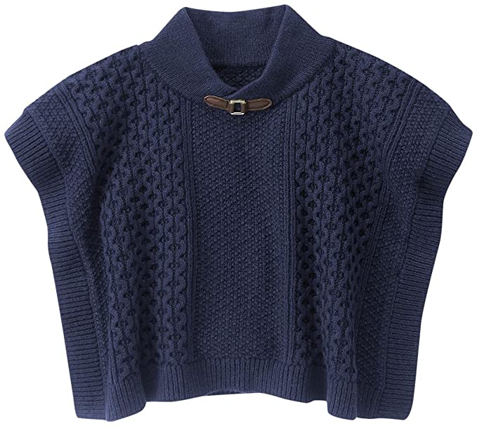 e0df4036ad4997 Amazon.com: Janie & Jack Baby Girls' Navy Sweater Cape: Clothing