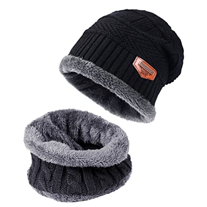 5b8523a41b2dc TAGVO Winter Beanie Hat Scarf Set Super Soft Fleece Inner Lining Great Warm