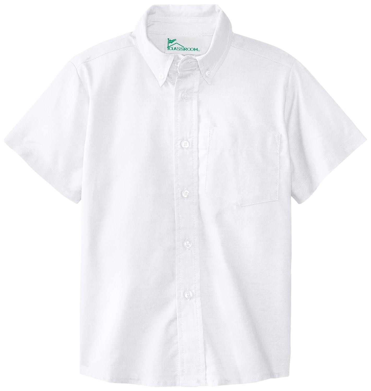 White 4 57601-WHT CLASSROOM Little Boys Short Sleeve Oxford Shirt