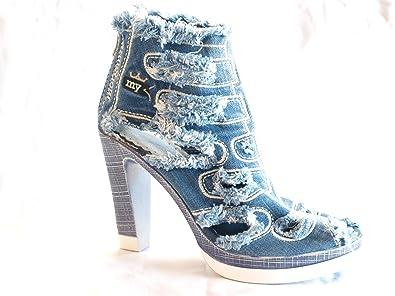 low priced 5c706 2da4b mymorgante Jeans Schuhe mit Absatz (10 cm) High-Denim ...