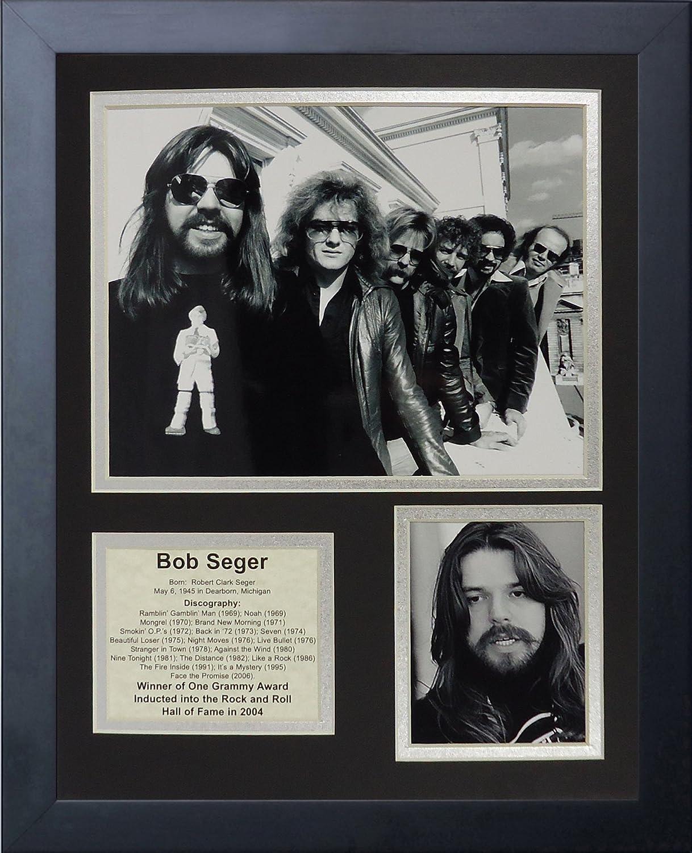11 by 14-Inch Legends Never Die Bob Seger Framed Photo Collage