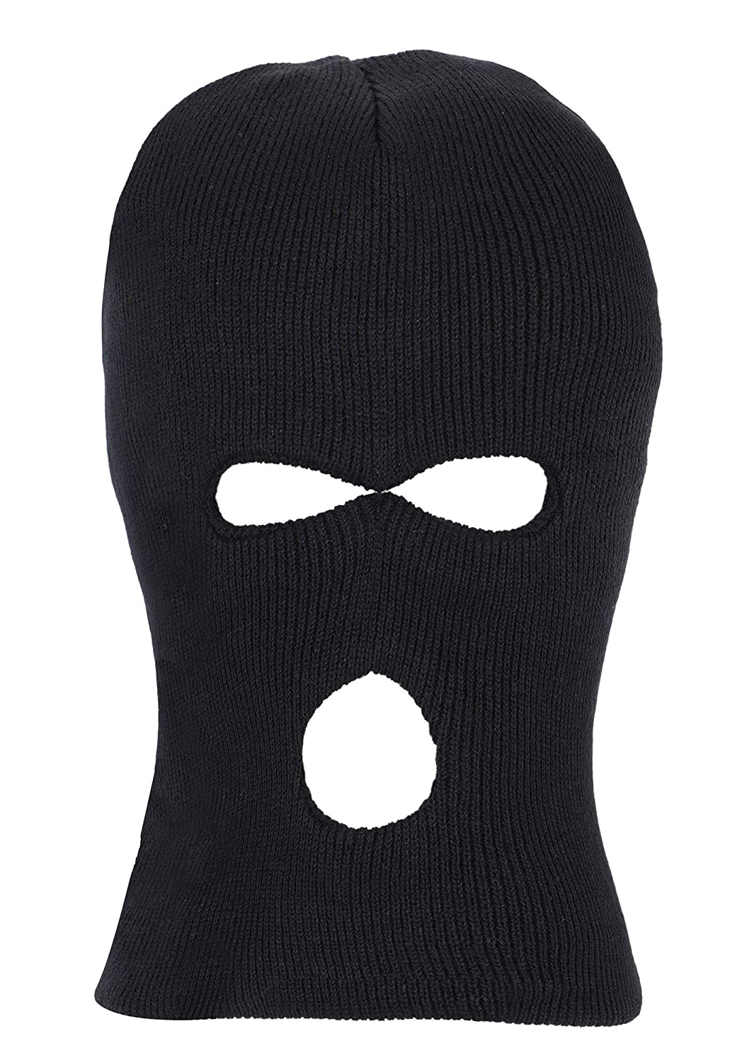 bb47e120b5c Outdoor Sports Lightweight Ski Mask Eye Hole Motorcycle Balaclava Black 3  Hole at Amazon Men s Clothing store