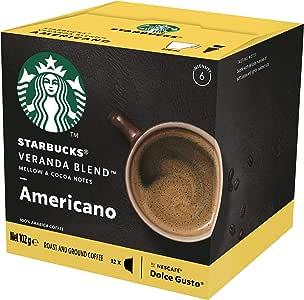 Starbucks Veranda Blend by NESCAFÉ Dolce Gusto Blonde Roast Coffee Pods, Box of 12 Capsules, 102g (12 Serves)