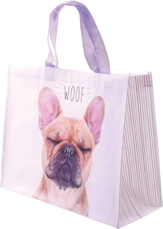 French Bulldog DJ Tote Shopping Bag For Life