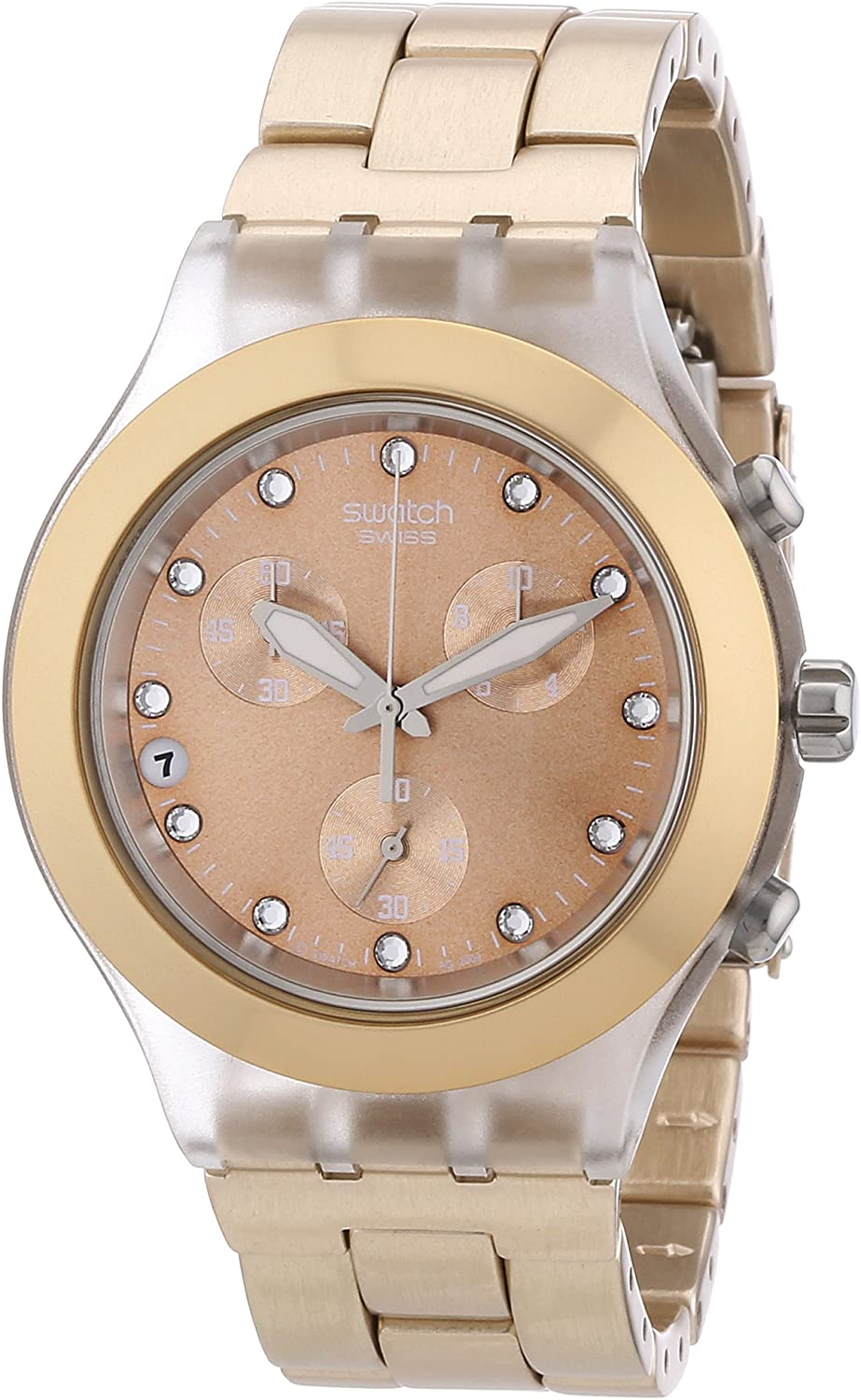 Swatch Full Blooded - Reloj de mujer, cuarzo, color caramelo