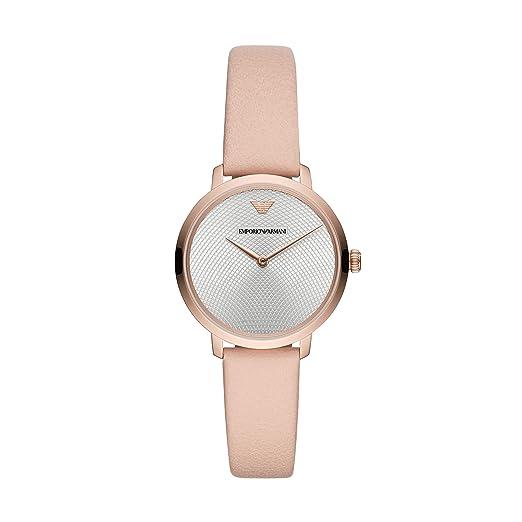 2255980ef638 Emporio Armani Reloj Analógico para Mujer de Cuarzo con Correa en Cuero  AR11160  Amazon.es  Relojes