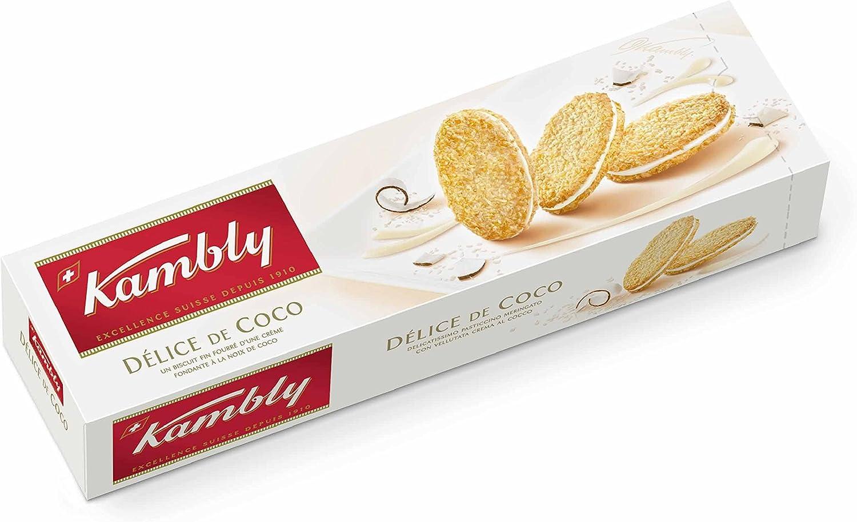 kambly Délice de coco, 3 Pack (3 x 80 g): Amazon.es: Alimentación ...