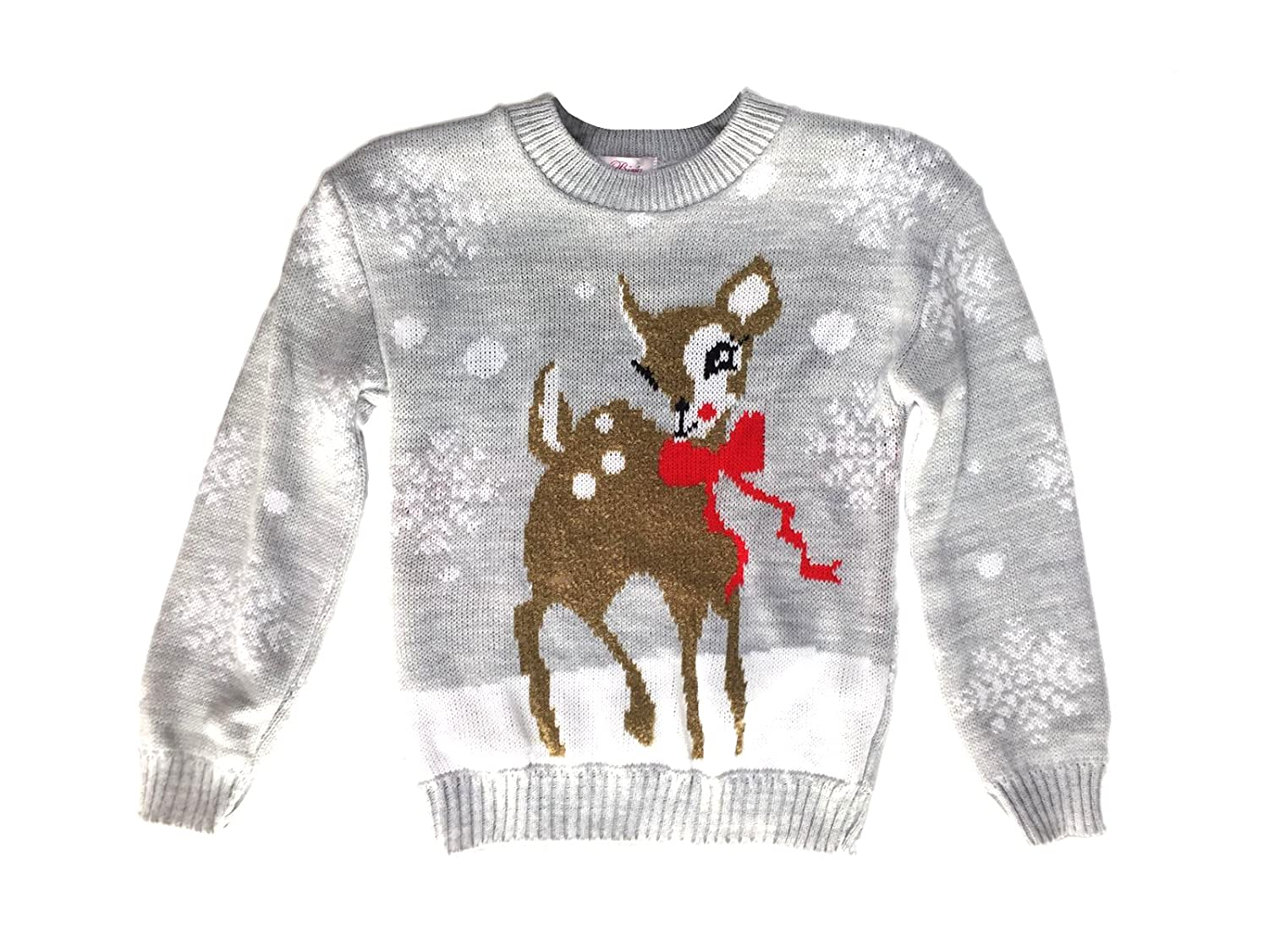 Kids Childrens CHRISTMAS JUMPER Xmas Girls Boys Retro Rudolph Winter Sweater