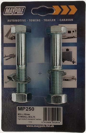 Maypole High Reach Towball and Tow Ball Bolts M16 x 65 mm bundle