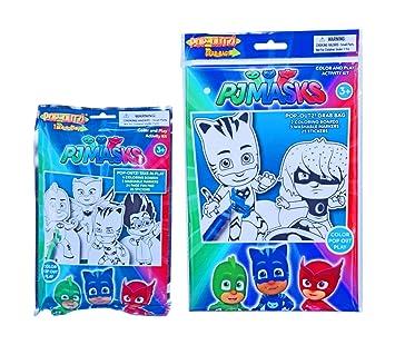 PJ Masks Color and Play Pop-Outz Activity Kit Bundle
