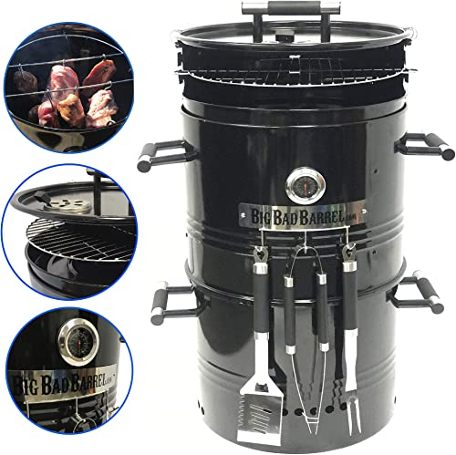 EasyGoProducts Big Bad Barrel Pit Charcoal Barbeque