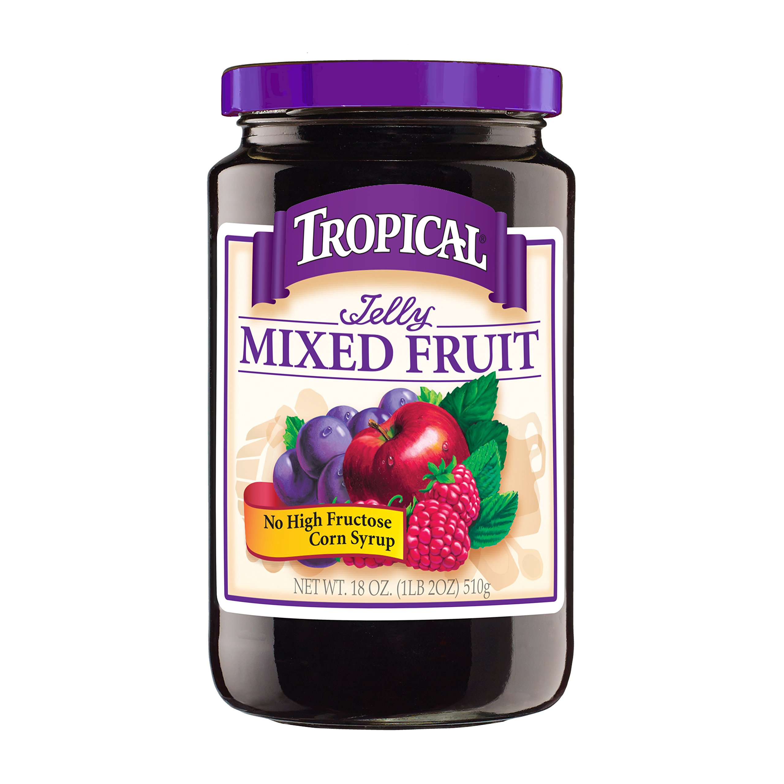 Tropical Mixed Fruit Jelly, 18 Ounce (Pack of 12)