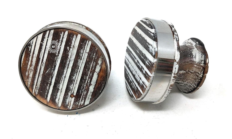 artesan/ías armarios cajones de 40 mm de di/ámetro cajones cajones Juego de 6 pomos de madera para puertas de armarios cajones cajones