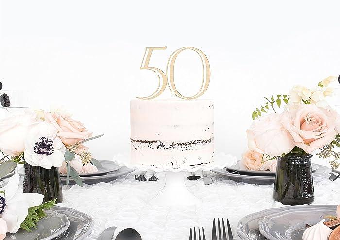 Amazon Gold 50th Birthday Cake Topper 50th Birthday Cake
