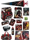 Star Wars Schulranzen Set 21tlg. Scooli Campus Up mit Sporttasche, Schultüte 85cm, Schreibtischunterlage SWHZ8252-GR