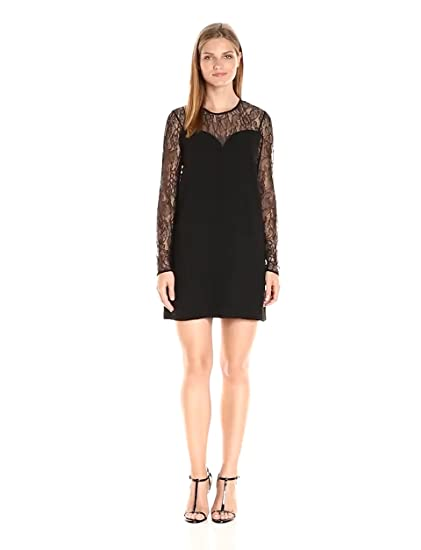 Amazon Bcbgeneration Womens A Line Dress With Lace Inserts