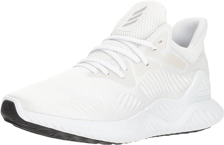 Men's Alphabounce Beyond Running Shoe, Silver Metallic/White, 8.5 M US