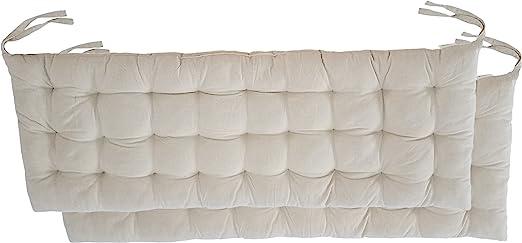 Amazon.com: Cottone 724190545331 - Cojín para banco (2 ...