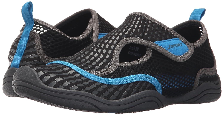 JSport by Jambu Women's Mermaid Monk Strap Flat B019DV874C 6.5 B(M) US|Black/Blue