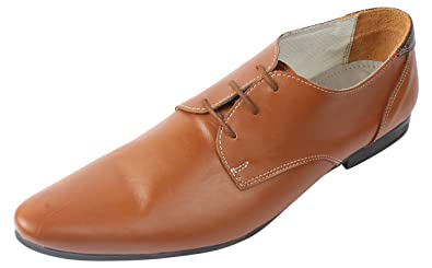 1b4c49a319 KHAN Men's Tan Leather Derby Shoes - 6 UK: Buy Online at Low Prices ...