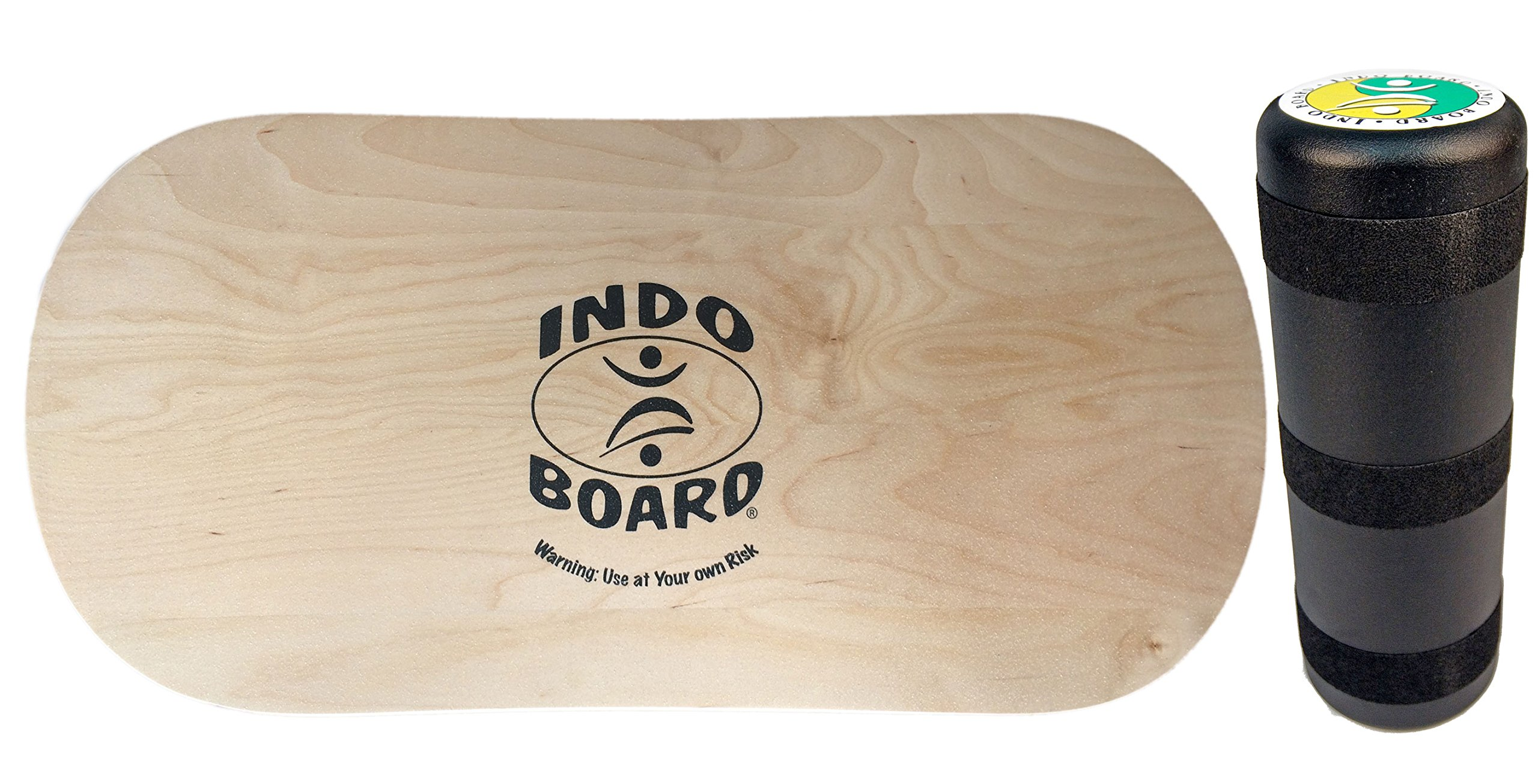 INDO BOARD Rocker 33'' X 16'' with 6.5'' Roller - High Performance Balance Board for Advanced Tricks - Natural Wood by INDO BOARD (Image #7)