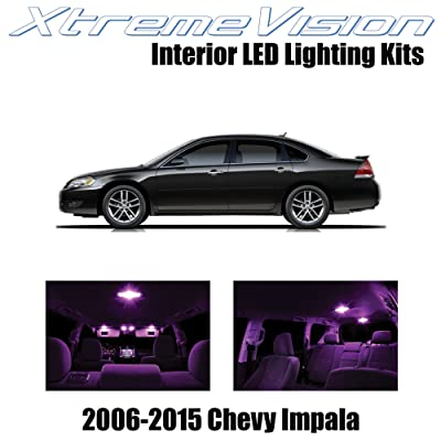 XtremeVision Interior LED for Chevy Impala 2006-2015 (16 Pieces) Pink Interior LED Kit + Installation Tool Tool: Automotive