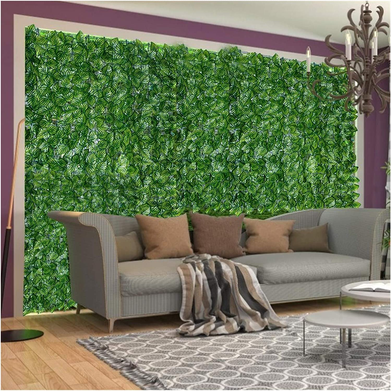 ABD 0.5 * 3M/0.5 * 1M Artificial Leaf Screening Roll Protected Privacy Hedging Wall Landscaping Indoor Out Garden Fence Balcony Screen (Color : 0.5 3M) Navy Blue