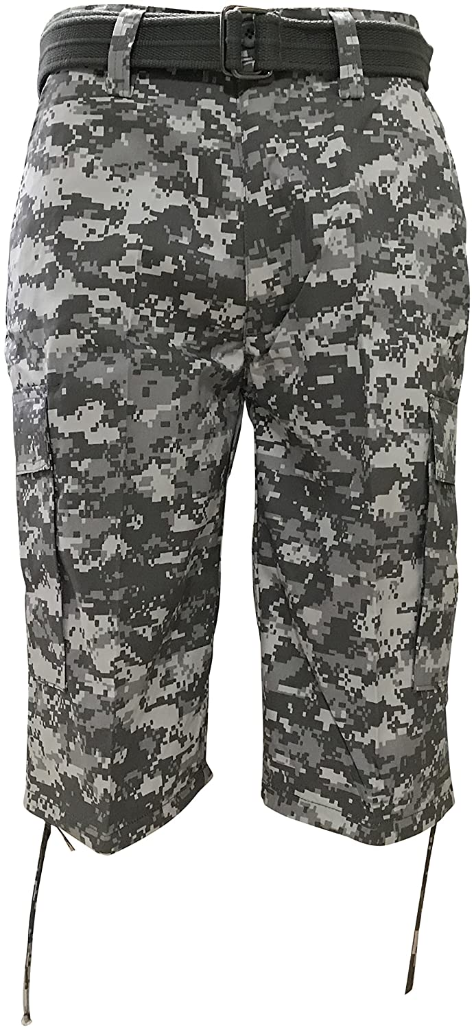 92886e7af8 Regal Wear Mens Camouflage Cargo Shorts with Belt: Amazon.ca: Clothing &  Accessories