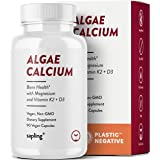 Calcium Supplement - Whole Food with Vitamin K2 & D3, Magnesium, Zinc, Boron, Mineral Complex. Sourced Sustainably from Red A